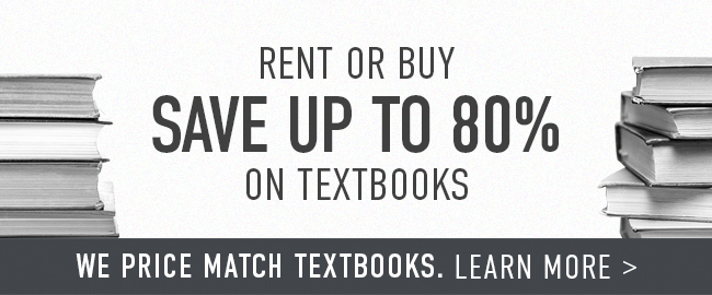 Picture of books. Rent or buy. Save up to 80% on textbooks. | We price match textbooks. Click to learn more.